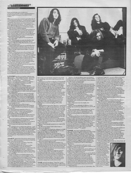 Simon Reynolds interviews Loop - part two, 12th November 1988
