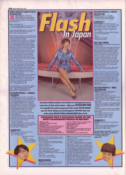 Taylor Parkes interviews Pizzicato Five, 1st April 1995