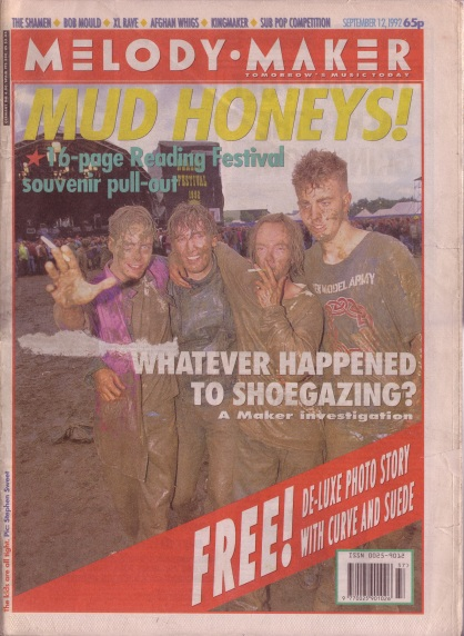 Reading Festival Special cover of the Melody Maker, 12th September 1992