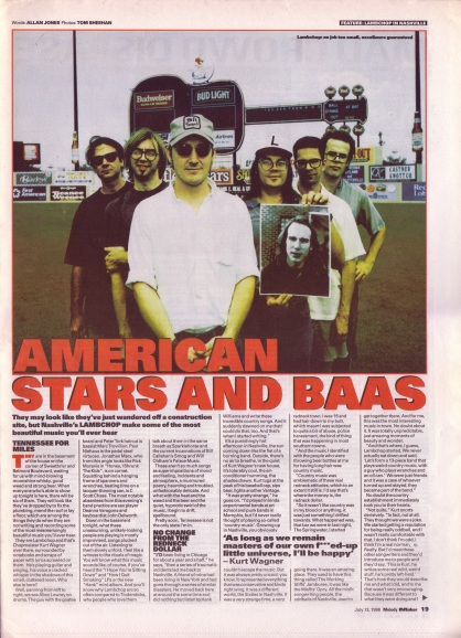 Allan Jones interviews Lambchop - part 1, 13th July 1996