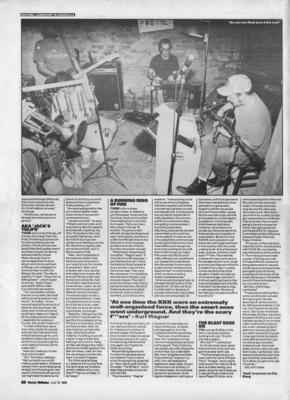 Allan Jones interviews Lambchop - part 2, 13th July 1996