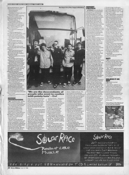 David Bennun interviews Super Furry Animals - part 2, 13th July 1996