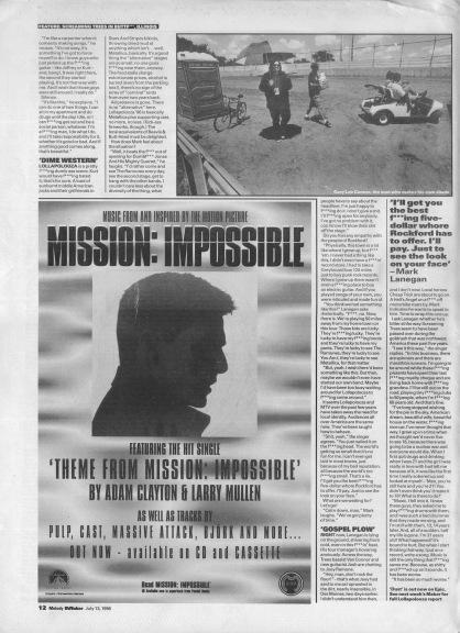 Everett True interviews Screaming Trees - part 2, 13th July 1996