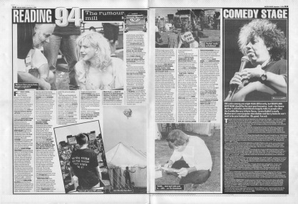 Reading Festival Review - Rumour Mill, 3rd September 1994
