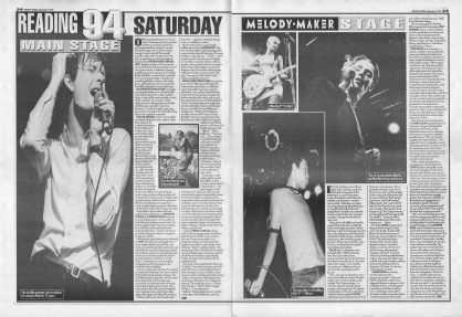 Reading Festival Review - Saturday, 3rd September 1994