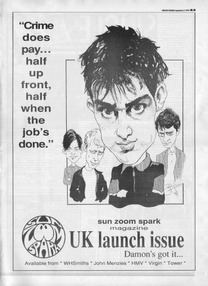 Sun Zoom Spark Launch Issue advert, 3rd September 1994