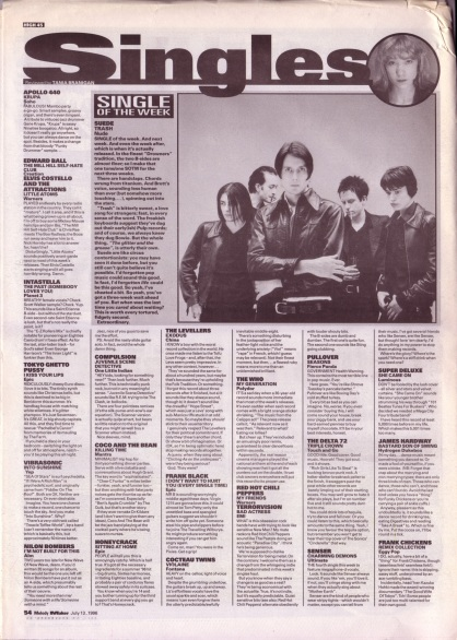 Tania Branigan reviews the singles of the week, 13th July 1996