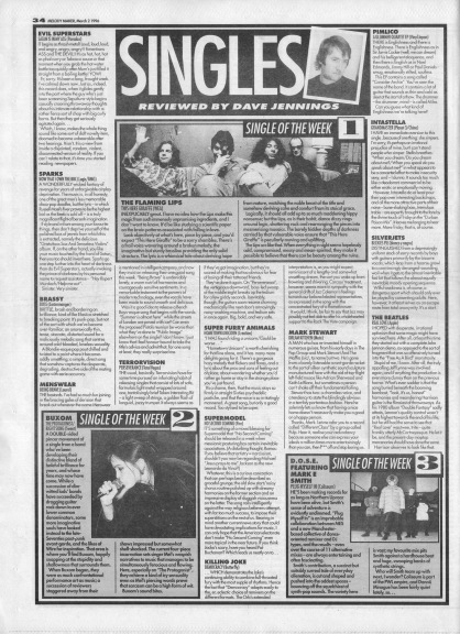 Dave Jennings reviews the singles of the week, 2nd March 1996