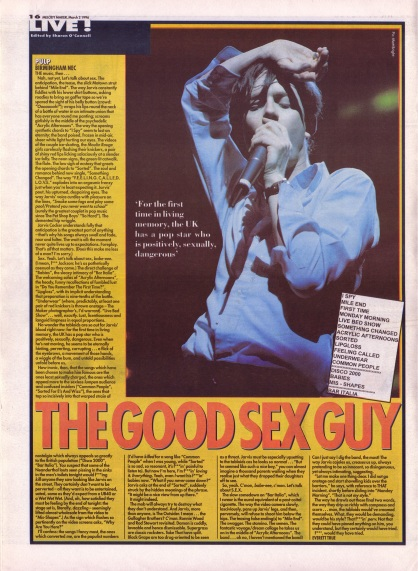 Everett True reviews Pulp live at the NEC, 2nd March 1996