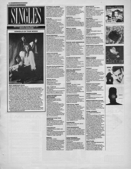 Mick Mercer reviews the singles of the week, 9th December 1989