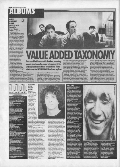 Neil Kulkarni reviews GVSB by Girls Against Boys, 2nd March 1996