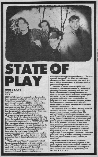 Paul Lester reviews 808 90 by 808 State, 9th December 1989