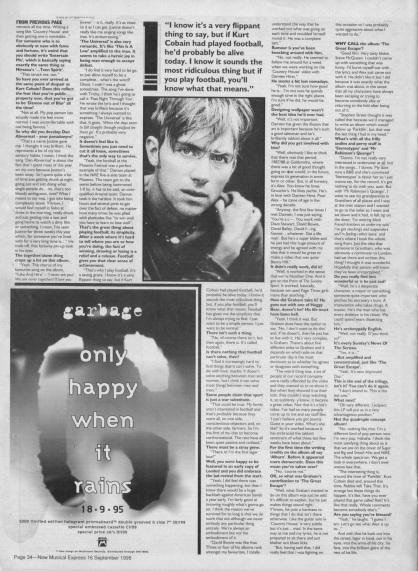 Steve Sutherland interviews Damon Albarn part2, 16th September 1995
