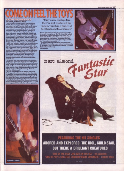 Victoria Segal reviews Super Furry Animals/Bis live at The Forum, 2nd March 1996