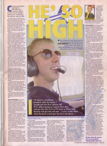 Alex Richardson interviews Dave Rowntree, 16th September 1995
