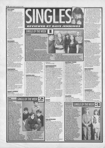 Dave Jennings reviews the singles of the week, 30th September 1995