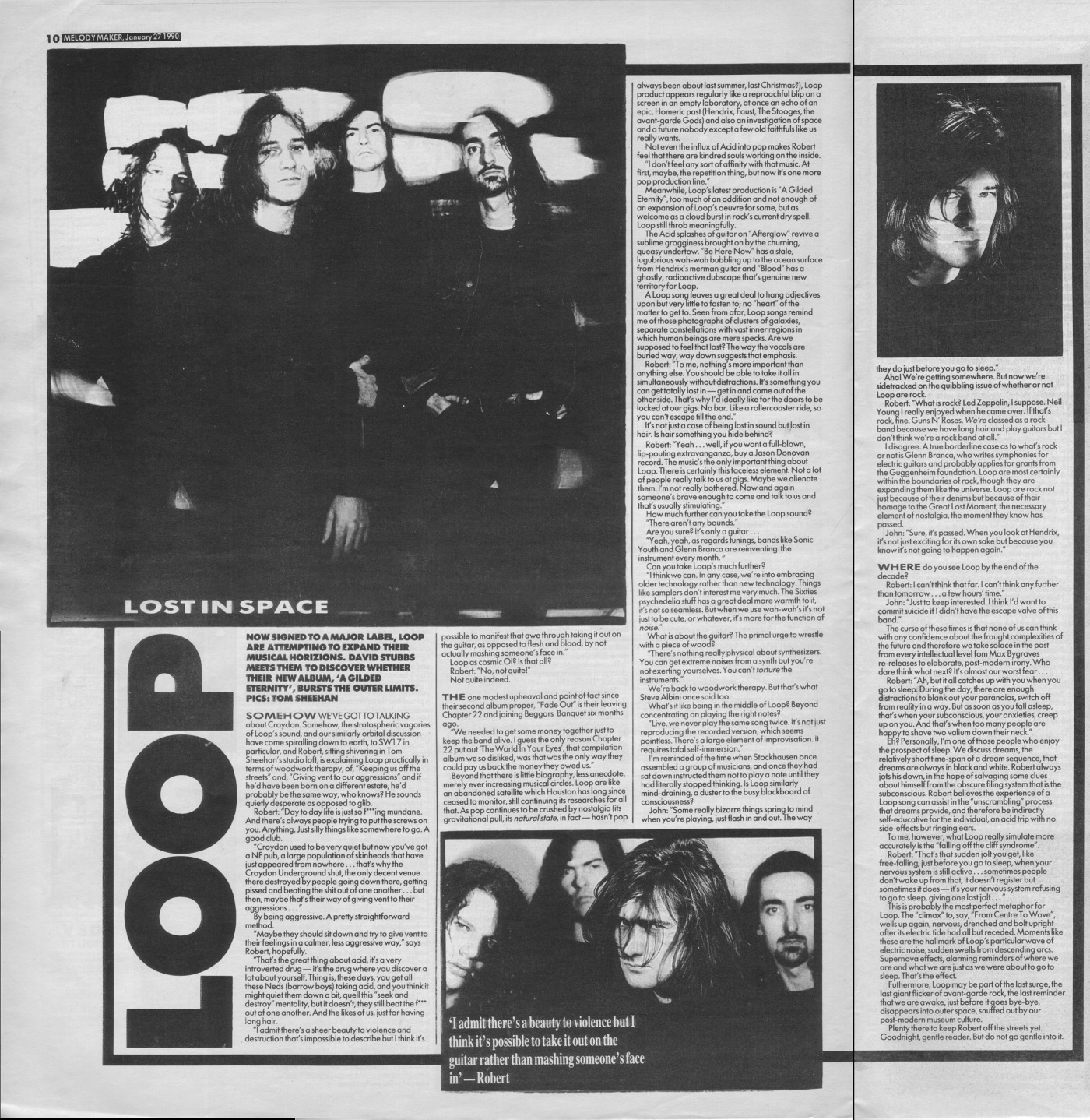 David Stubbs interviews Loop, 27th January 1990 | Archived Music Press