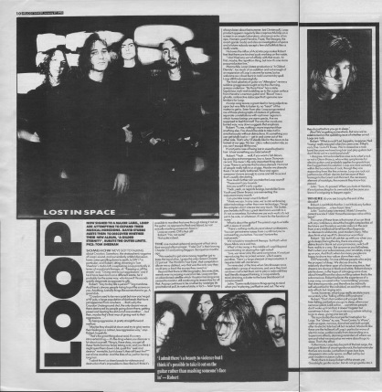 David Stubbs interviews Loop, 27th January 1990