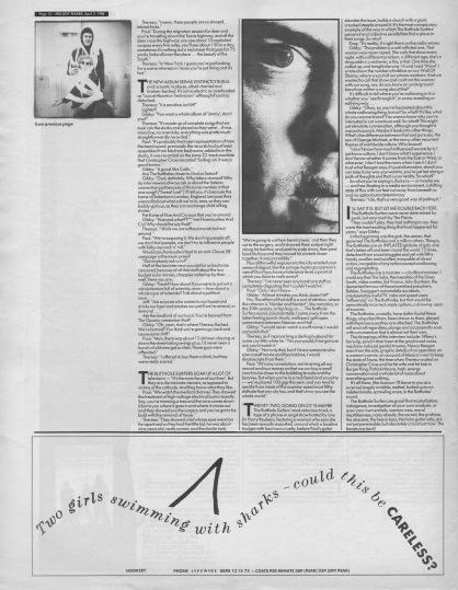 David Stubbs interviews The Butthole Surfers part2, 2nd April 1988