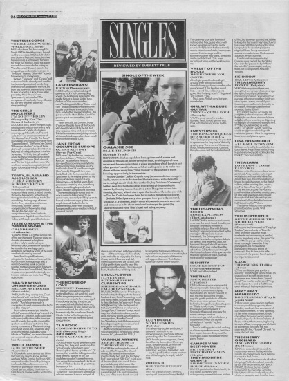 Everett True reviews the singles of the week, 22nd January 1990