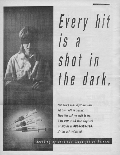 heroin advertisment, 21st January 1989