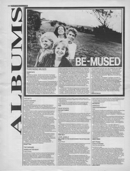 Simon Reynolds reviews Hunkpapa by Throwing Muses, 21st January 1989