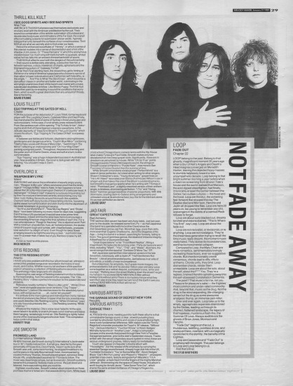 The Stud Brother review Fade Out by Loop, 21st January 1989