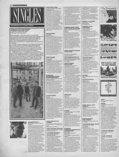 Everett True reviews the singles of the week, 22nd April 1989