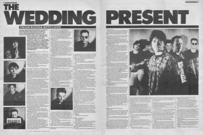 Ian Gittins interviews The Wedding Present, 22nd April 1989