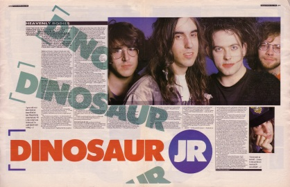 Steve Sutherland interviews Dinosaur Jr. and Robert Smith part 1, 6th May 1989