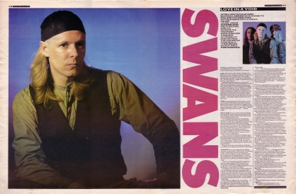 Steve Sutherland interviews Swans part 1, 22nd April 1989