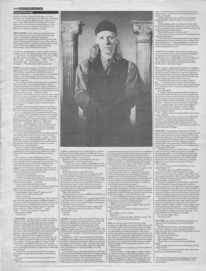 Steve Sutherland interviews Swans part 2, 22nd April 1989