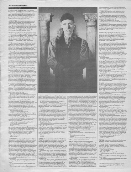 Steve Sutherland interviews Swans part 2, 22nd April 1989