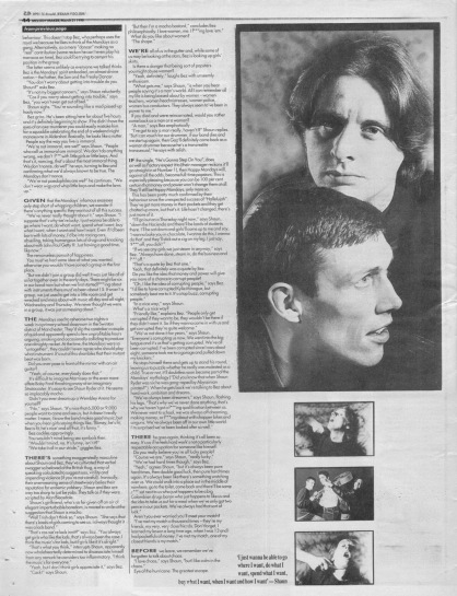 The Stud Brothers interview The Happy Mondays part 2, 31 March 1990
