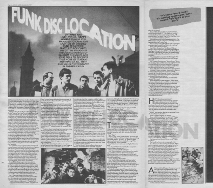 Ian Gittins interviews Happy Mondays, 28th November 1987