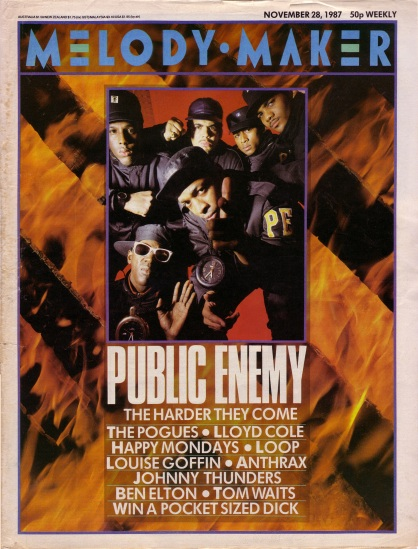 Public Enemy on the cover of Melody Maker, 28th November 1987